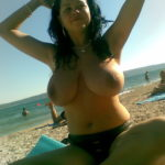 boobiesonly:  PERFECT TITS AT THE BEACH!!!!